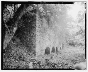 Kilns from the Potomac Mill Complex.  Courtesy of the Library of Congress, Historic American Buildings Survey, Prints and Photographs Division Washington, D.C. 20540, HAER WVA,19-SHEP.V,4—1