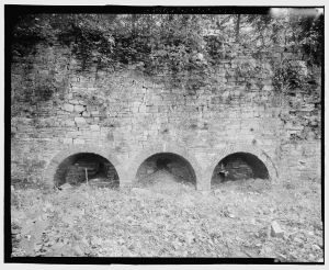 Kiln Block built in the 1830s.  Courtesy of the Library of Congress, Historic American Buildings Survey, Prints and Photographs Division Washington, D.C. 20540, HAER WVA,19-SHEP.V,4—12