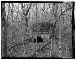 The 1828 Large Single Kiln, looking northwest.  Courtesy of the Library of Congress, Historic American Buildings Survey, Prints and Photographs Division Washington, D.C. 20540, HAER WVA,19-SHEP.V,4—17.