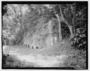 Kilns from the Potomac Mill Complex.  Courtesy of the Library of Congress, Historic American Buildings Survey, Prints and Photographs Division Washington, D.C. 20540, HAER WVA,19-SHEP.V,4—2